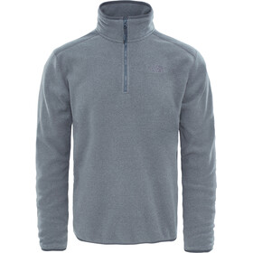 The North Face 100 Glacier Sweat-shirt avec Fermeture éclair 1/4 Homme, tnf medium grey heather/high rise grey
